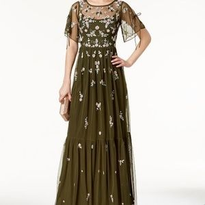 NWT Adrianna Papell Beaded Mesh Dress